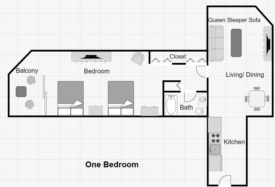 1 Bedroom Ocean Front